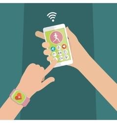 Concept of smart watch vector image vector image