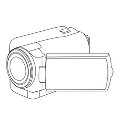 figure camcorder icon image vector image vector image