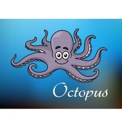 Funny cartoon baby octopus vector image