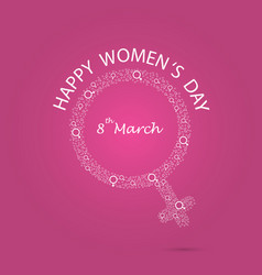 international womens day iconwomens day vector image vector image