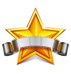 Movie star vector image vector image