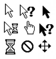 pixelated graphics vector image