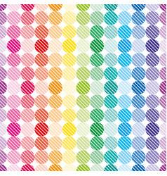 rainbow dots wallpaper vector image