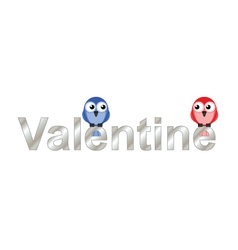 Valentine lovers vector image