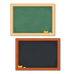 Black and green blackboards vector image