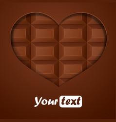 Chocolate hearts vector image