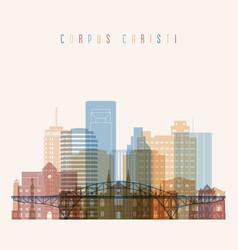 corpus christi state texas skyline vector image