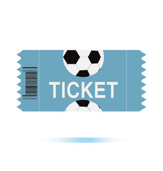 football tickets icon on white background vector image vector image