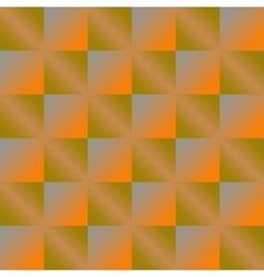 Geometric orange background with squares vector image
