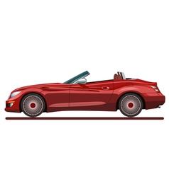 Red beautiful sport car vector image