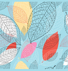 seamless bright graphic pattern from the leaves vector image vector image