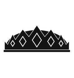 small crown icon simple style vector image vector image