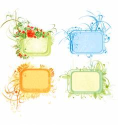 winter spring summer autumn vector image vector image