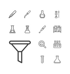 13 laboratory icons vector