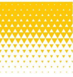 abstract yellow triangle halftone background vector image