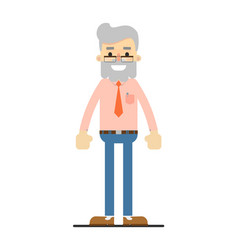 adult hipster in shirt tie and pants vector image