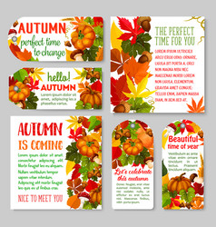 Autumn label and thanksgiving day gift tag set vector