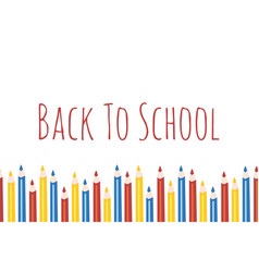 back to school with seamless vector image