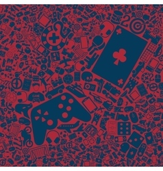 background of the gaming icons vector image