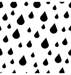 Black and white rain drops seamless pattern vector