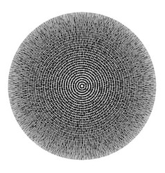 black and white round pattern abstract background vector image vector image