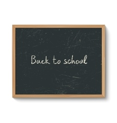 Blackboard in a wooden frame vector image