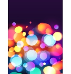 Bright colors bokeh light effect background vector image