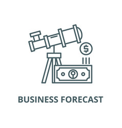 business forecast line icon linear concept vector image