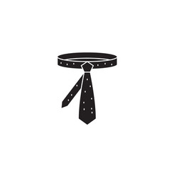 business tie black concept icon business vector image