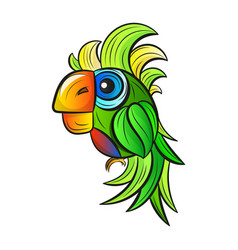 cartoon cute parrot vector image