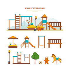 children s entertainment playground benches vector image