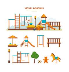 children s entertainment playground benches vector image