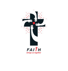 Christianity cross true belief in jesus symbol vector