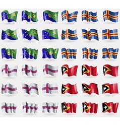 Christmas Island Aland Faroe Islands East Timor vector
