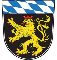 Coat of arms of upper bavaria in bavaria germany vector