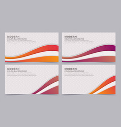collection colorful gradient banners vector image