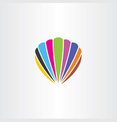 colorful seashell logo icon symbol vector image