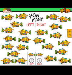 Counting left and right picture of fish vector