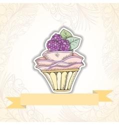 Cupcake invitation card vector