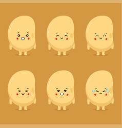 Cute soy character with various expressions vector