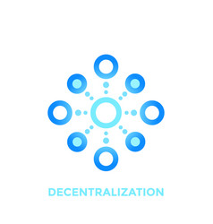 decentralization icon logo on white vector image