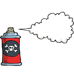 doodle gas bottle with poison vector image