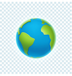 earth isolated on transparent background vector image
