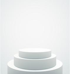 empty white pedestal vector image