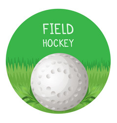 field hockey poster with ball in circle vector image