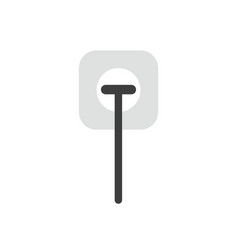 Flat design concept of electrical plug plugged vector