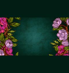 Floral desktop wallpaper vector