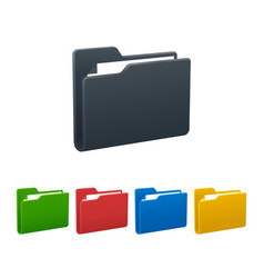 Folders with documents on white background vector