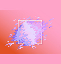 glitched background with abstract colorful shapes vector image