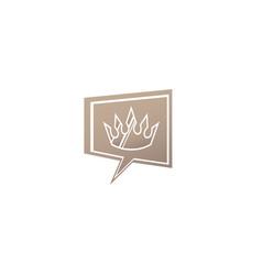 golden crown for logo design luxury symbol in vector image